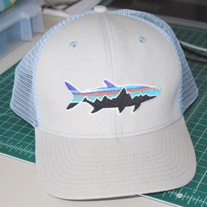 Patagonia Grey and Blue Trucker Hat